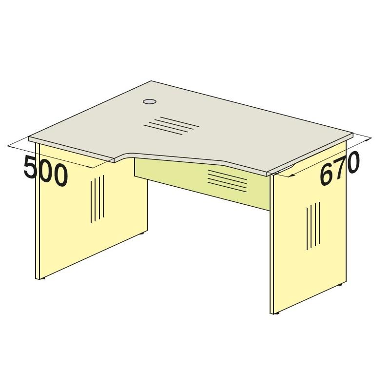 Стол угловой 76S054