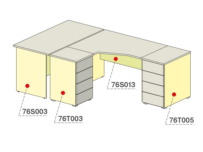Стол угловой двухтумбовый + стол прямой