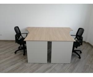 Стол угловой письменный на два рабочих места 1580*1900*750 мм