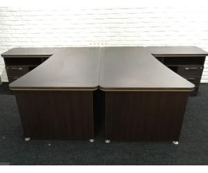 Стол на два рабочих места V2U. Толщина столешницы 38 мм