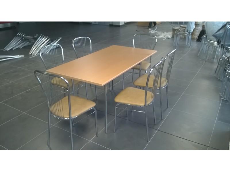 Комплект для столовой TRACY-k6 (Стол+6 стульев)